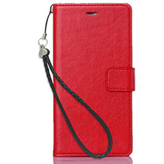 Coque Portefeuille Livre Cuir Etui Clapet pour Nokia X3 Rouge