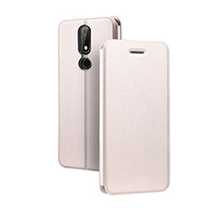 Coque Portefeuille Livre Cuir Etui Clapet pour Nokia X5 Rose