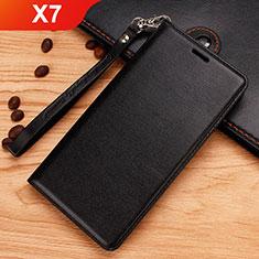 Coque Portefeuille Livre Cuir Etui Clapet pour Nokia X7 Noir