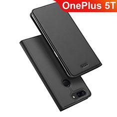Coque Portefeuille Livre Cuir Etui Clapet pour OnePlus 5T A5010 Noir