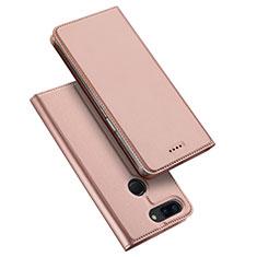 Coque Portefeuille Livre Cuir Etui Clapet pour OnePlus 5T A5010 Or Rose