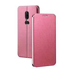 Coque Portefeuille Livre Cuir Etui Clapet pour OnePlus 6 Rouge