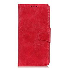 Coque Portefeuille Livre Cuir Etui Clapet pour OnePlus Nord Rouge