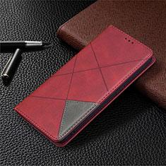 Coque Portefeuille Livre Cuir Etui Clapet pour Oppo A15 Rouge