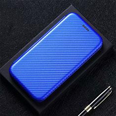 Coque Portefeuille Livre Cuir Etui Clapet pour Oppo F17 Bleu