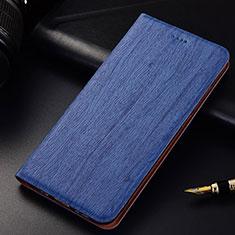 Coque Portefeuille Livre Cuir Etui Clapet pour Oppo Find X Bleu