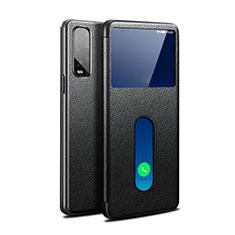Coque Portefeuille Livre Cuir Etui Clapet pour Oppo Find X2 Noir