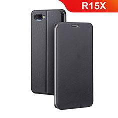 Coque Portefeuille Livre Cuir Etui Clapet pour Oppo R15X Noir