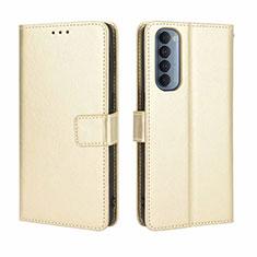 Coque Portefeuille Livre Cuir Etui Clapet pour Oppo Reno4 Pro 4G Or