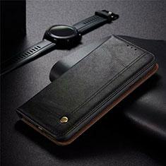 Coque Portefeuille Livre Cuir Etui Clapet pour Realme 5 Pro Noir