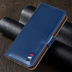 Coque Portefeuille Livre Cuir Etui Clapet pour Realme 5i Bleu