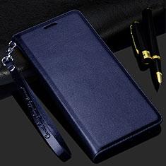 Coque Portefeuille Livre Cuir Etui Clapet pour Realme C3 Bleu