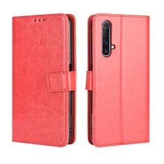 Coque Portefeuille Livre Cuir Etui Clapet pour Realme X3 Rouge