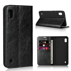 Coque Portefeuille Livre Cuir Etui Clapet pour Samsung Galaxy A10 Noir
