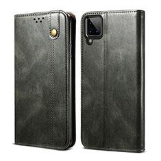 Coque Portefeuille Livre Cuir Etui Clapet pour Samsung Galaxy A12 Vert Nuit
