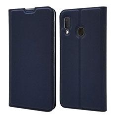 Coque Portefeuille Livre Cuir Etui Clapet pour Samsung Galaxy A20e Bleu