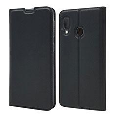 Coque Portefeuille Livre Cuir Etui Clapet pour Samsung Galaxy A20e Noir