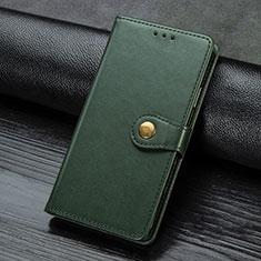 Coque Portefeuille Livre Cuir Etui Clapet pour Samsung Galaxy A21s Vert