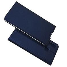 Coque Portefeuille Livre Cuir Etui Clapet pour Samsung Galaxy A30 Bleu