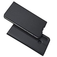 Coque Portefeuille Livre Cuir Etui Clapet pour Samsung Galaxy A30 Noir