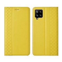Coque Portefeuille Livre Cuir Etui Clapet pour Samsung Galaxy A42 5G Jaune