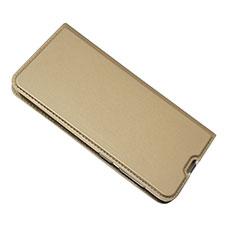 Coque Portefeuille Livre Cuir Etui Clapet pour Samsung Galaxy A50 Or