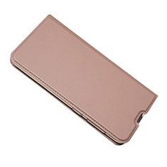 Coque Portefeuille Livre Cuir Etui Clapet pour Samsung Galaxy A50 Or Rose