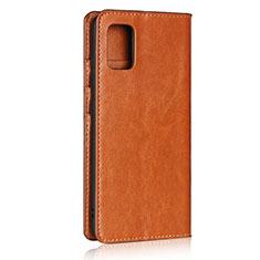 Coque Portefeuille Livre Cuir Etui Clapet pour Samsung Galaxy A51 4G Brun Clair