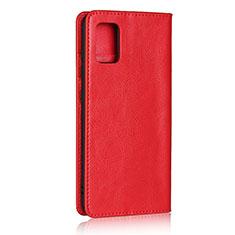 Coque Portefeuille Livre Cuir Etui Clapet pour Samsung Galaxy A51 4G Rouge