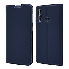 Coque Portefeuille Livre Cuir Etui Clapet pour Samsung Galaxy A60 Bleu