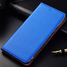 Coque Portefeuille Livre Cuir Etui Clapet pour Samsung Galaxy A6s Bleu