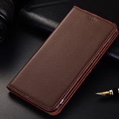 Coque Portefeuille Livre Cuir Etui Clapet pour Samsung Galaxy A6s Marron