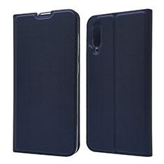 Coque Portefeuille Livre Cuir Etui Clapet pour Samsung Galaxy A70 Bleu