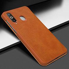 Coque Portefeuille Livre Cuir Etui Clapet pour Samsung Galaxy A8s SM-G8870 Marron