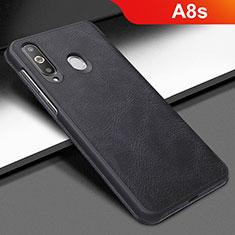 Coque Portefeuille Livre Cuir Etui Clapet pour Samsung Galaxy A8s SM-G8870 Noir