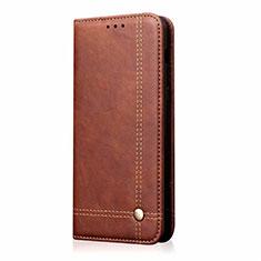 Coque Portefeuille Livre Cuir Etui Clapet pour Samsung Galaxy M31 Prime Edition Marron