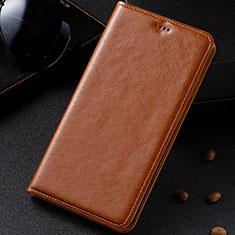 Coque Portefeuille Livre Cuir Etui Clapet pour Samsung Galaxy M60s Orange