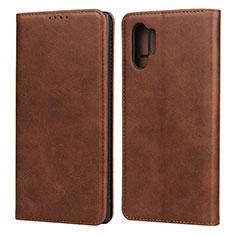 Coque Portefeuille Livre Cuir Etui Clapet pour Samsung Galaxy Note 10 Plus 5G Marron