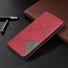 Coque Portefeuille Livre Cuir Etui Clapet pour Samsung Galaxy S20 FE 5G Rouge