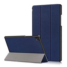 Coque Portefeuille Livre Cuir Etui Clapet pour Samsung Galaxy Tab A7 4G 10.4 SM-T505 Bleu