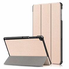 Coque Portefeuille Livre Cuir Etui Clapet pour Samsung Galaxy Tab S5e 4G 10.5 SM-T725 Or