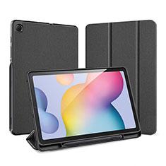 Coque Portefeuille Livre Cuir Etui Clapet pour Samsung Galaxy Tab S6 Lite 4G 10.4 SM-P615 Noir