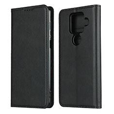 Coque Portefeuille Livre Cuir Etui Clapet pour Sharp AQUOS Sense4 Plus Noir