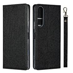 Coque Portefeuille Livre Cuir Etui Clapet pour Sony Xperia 1 II Noir