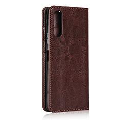 Coque Portefeuille Livre Cuir Etui Clapet pour Sony Xperia 10 II Marron