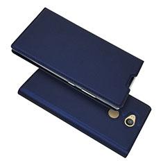 Coque Portefeuille Livre Cuir Etui Clapet pour Sony Xperia L2 Bleu
