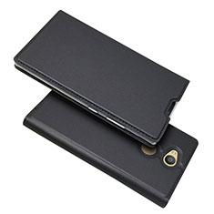 Coque Portefeuille Livre Cuir Etui Clapet pour Sony Xperia L2 Noir