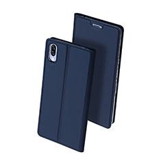 Coque Portefeuille Livre Cuir Etui Clapet pour Sony Xperia L3 Bleu