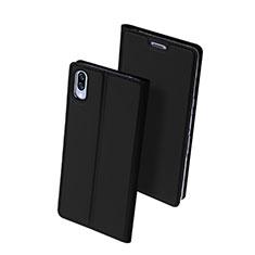 Coque Portefeuille Livre Cuir Etui Clapet pour Sony Xperia L3 Noir
