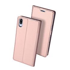 Coque Portefeuille Livre Cuir Etui Clapet pour Sony Xperia L3 Or Rose